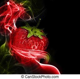 Fantastic Strawberry - A fantastic strawberry in the colored...