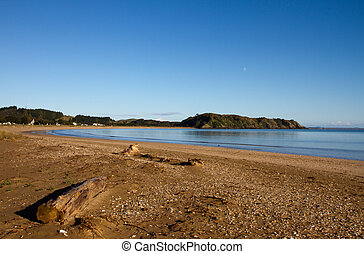 Taipa Beach, Northland, New Zealand - Taipa Beach on a still...