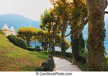 Magnificent park at the Italian villa-museum Balbyanello....