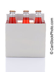 Six Pack of Strawberry Soda Bottles