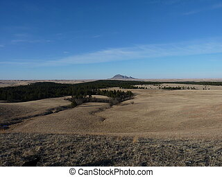 Long distance view of Bear Butte - A long distance view of...