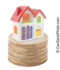 House on stack of euro coins