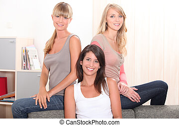 Three female housemates
