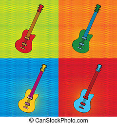 pop art guitar