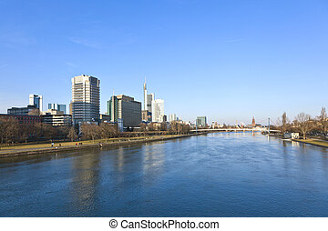 cityscape of Frankfurt am Main, Germany.