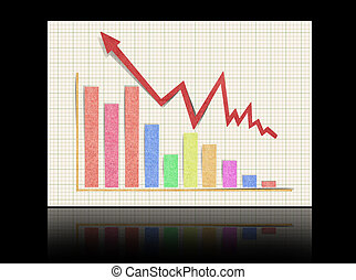 graph showing rise in profits  ????  recycled paper craf