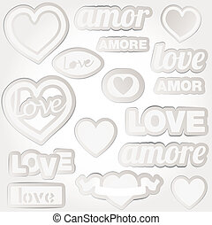 Heart love paper Valentines day
