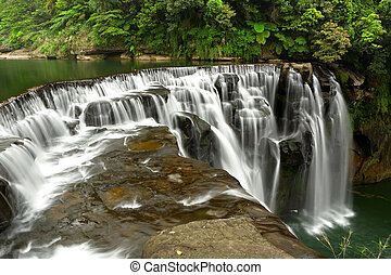 waterfall in shifen taiwan