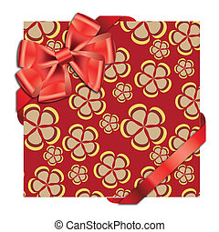Gift cards with ribbon. Vector background