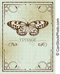 Basic RGB - Vintage card with butterfly