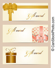 Gift cards - Vector set of gift cards