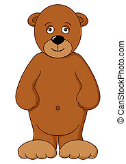 Teddy-bear brown isolated