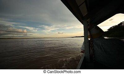Boat At Amazon River