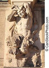 Centaur statue - Centaur marble statue in Dresden Zwinger,...