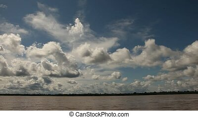 Nice Clouds At Amazon River