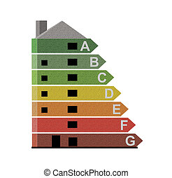 Energy efficiency rating - Illustrated energy efficiency...