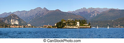Lake Maggiore panoramic view. - Panoramic view on Isola...