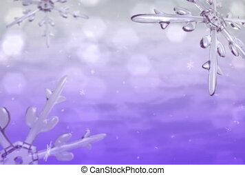 Xmas snow purple ntsc - Xmas snow motion graphic background.