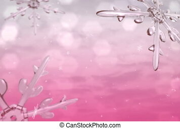 Xmas snow pink ntsc - Xmas snow motion graphic background.