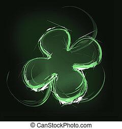clover leaf - Art illustration of a green clover leaf