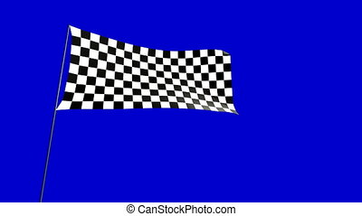 checkered flag D - checkered flag animation