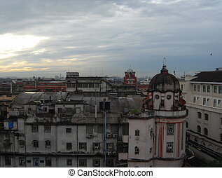 Kolkatas colonial skyline - Skyline of Kolkata, the former...