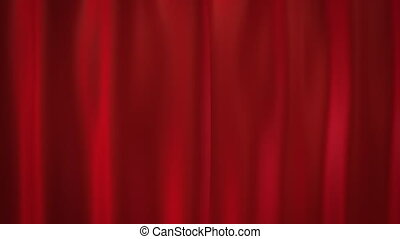 red curtains - curtains opening for celebration