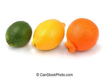 Fresh Organic Lime, Lemon and Tangelo