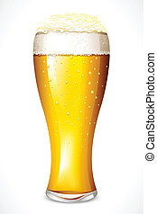 Beer Glass - illustration of beer glasses on white...