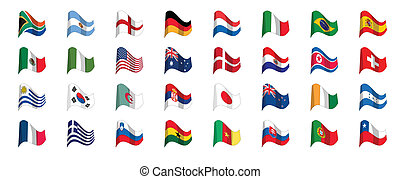 countries flag icons, world cup 2010 south africa