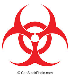 biohazard sign, vector format, for health industry concepts