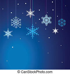 Vector set of snowflakes background.