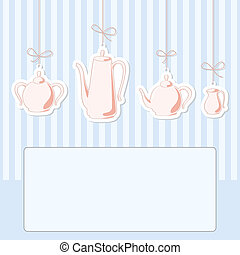 Teapots.  - Vector illustration of tea and coffee set.