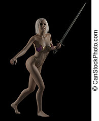 Fantasy Woman with Sword