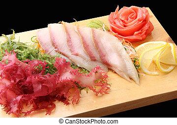 hamachi, tabla,  sashimi