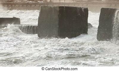 Tearer - Storm Waves Smashing Against Water Brekers
