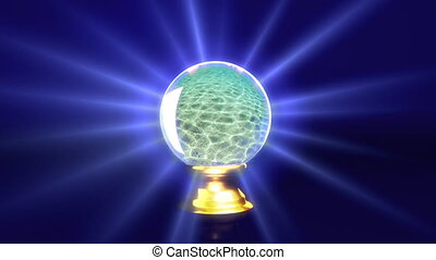 crystal ball future sea - tourism idea in dream