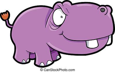 Crazy Hippopotamus Safari Animal