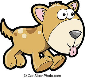 Happy Puppy Dog Animal Vector