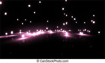 pink Bouncing light balls wide
