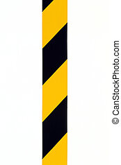 Caution signs - details of security tape use for marking...