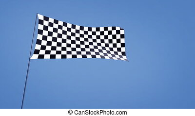checkered flag wide angle