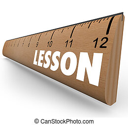 Lesson Word on Ruler Teach Message Education