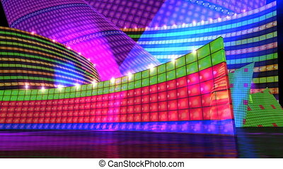 DJ disco stage HD - DJ disco motion graphic background.