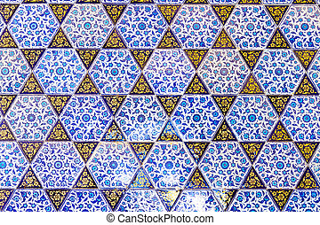 Handmade Blue Tiles from Topkapi Palace