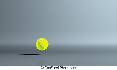 tennis ball dropoff - Tennis ball bouncing is for animation...