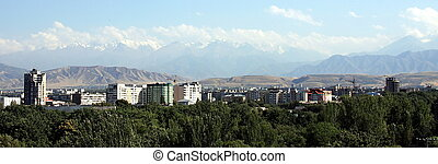 Panorama of Bishkek skyline - Panorama of the Bishkek...