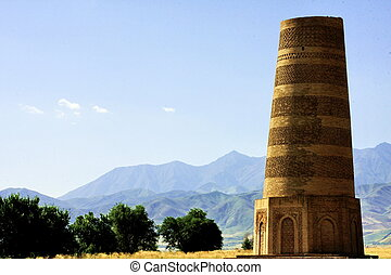 Burana tower near Tokmok - Burana Tower, near Tokmok in...
