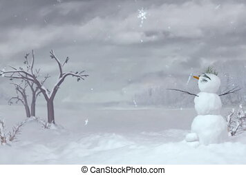 snowman ntsc - Snowman can use for Xmas and winter concept...