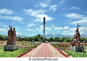 Statuary of Manas Ordo - Statuary of Manas and other Kyrgyz...